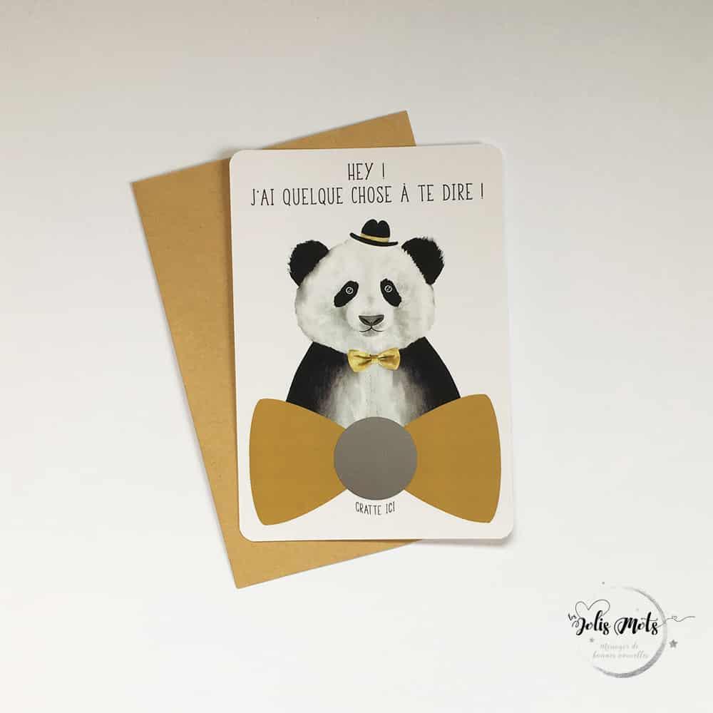carte gratter veux tu tre mon t moin mon parrain demande bapt me mariage hommes panda. Black Bedroom Furniture Sets. Home Design Ideas